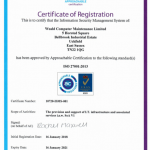 Weald attains ISO27001:2013 Info' Security Management