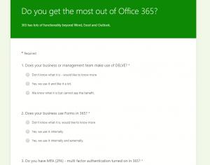 office 365 survey
