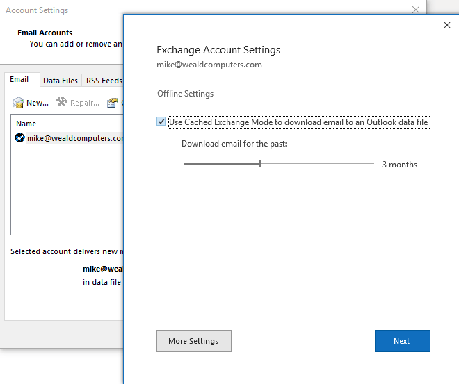 Outlook-Cached-Exchange-Mode-Settings